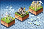 Isometric,Power Station,Power Line,Generator,Electricity,Wind Turbine,Wind,Urban Scene,City,Farm,House,Clean,Factory,Spring - Flowing Water,Tower,Environment,Harvesting,Sparse,Diagram,Environmental Conservation,Recycling,Nature,Seascape,Turbine,Choice,Technology,Set,Green Color