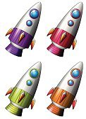 UFO,Land Vehicle,Space,Window,Red,Purple,Vector,Space Travel Vehicle,Technology,Engine,Flying,Clip Art,Computer Graphic,Rocket Booster,White Background,Series,Rocket,Collection,Transportation