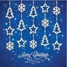 Christmas,Greeting Card,Backgrounds,Christmas Card,Copy Space,Holiday,Invitation,Celebration,Christmas Decoration,Decoration,Symbol,Star Shape,Christmas Ornament,Christmas Tree,Snowflake,Blue,Silver - Metal