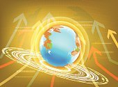 Earth,World Map,Technology,gold background,Arrow,Ilustration,Ideas,Global Business,Business,Connection,Urban Scene,Computer Network,Innovation,Vector,Concepts,Network Server,Achievement,Communication,Global Communications,Shape,Aspirations,Wireless Technology,Angle,Curve,Internet,E-commerce,Corporate Business
