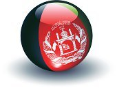 Afghanistan,Flag,Sphere,Three-dimensional Shape,Symbol,National Flag,Interface Icons,Isolated On White,Ilustration,Vector,No People,Glass - Material,Shiny