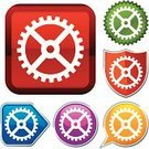 Gear,Work Tool,Red,Religious Icon,Geometric Shape,Silhouette,Shape,Green Color,Simplicity,Design,Vector,Interface Icons,Sign,Ilustration,Metallic,Sparse,Shiny,Push Button,Series,Purple,Illustrations And Vector Art,Vector Icons,Blue,Orange Color,White,Yellow