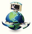 Multimedia,Earth,Internet,Computer,Skill,Photography,Blue,Secretary,Painting,Green Color,Planet - Space,Communication,Technology,Space,One Person,Business,Computer Printer,Map,Connection,Office Interior,Symbol,Travel Destinations,USA,Vector,Sphere,Ilustration,Computer Monitor,Showing,www,Global Business,Isolated,Concepts,Paper,Copying,Journey,Individual Event,Single Object,Machinery,Disk,Elegance,The Americas,Toned Image,CD-ROM,Equipment,Illustrations And Vector Art,Isolated Objects
