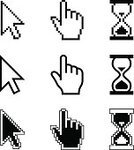 Cursor,Computer Mouse,Arrow Symbol,Human Hand,Pointer Stick,Computer Icon,Symbol,Pixelated,Web Page,Ilustration,Computer,Vector,Hourglass,Set,Technology,Connection,Shape,www,Waiting,Sign,Interface Icons,http,Computer Graphic,White,Holding,Direction,Choice