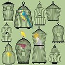 Ornate,Design,Set,Wing,Single Object,Single Line,Ilustration,Birdcage,Silhouette,Gold And Blue Macaw,Nature,Metal,Backgrounds,Computer Graphic,Empty,Hanging,Collection,Shape,Bird,Enclosure,Pets,Macaw,Parrot,Old-fashioned,Canary,Black Color,Retro Revival,Decoration,Feather,Cage,Vector,Cockatoo