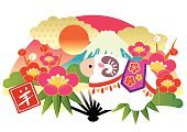 New Year,New Year's Eve,Japan,New Year's Day,Flower,Pattern,Plant,2015,Plum,Design,Asia,Pine Tree,Celebration,Japanese New Year,Chinese New Year,Japanese Culture,Tree,Beauty,Ilustration,Cute