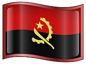 Angolan Flag,Angola,Flag,Black Color,Luanda,Banner,Red,No People,Wave Pattern,Ilustration,Travel,Style,Single Object,Symbol,Design Element,Isolated,Travel Locations,National Flag,Horizontal,Shiny,Elegance,Reflection,Cultures,Internet,Interface Icons,Isolated On White,Glass - Material,Turquoise,Waving,Travel Backgrounds,Computer Icon,Yellow,White,Patriotism