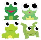 Frog,Cartoon,Cute,Animal,Jumping,Pond,Ilustration,Animal Themes,Cheerful,Characters,Nature,Happiness,Green Color,Group Of Animals,Smiling,Amphibian