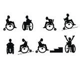 Wheelchair,Activity,Direction,Danger,paralyze,Care,Motion,Physical Injury,Chair,Symbol,Painted Image,Loss,Touching,Patient,Traffic,Sign,Image,Assistance,Paraplegic,Black Color,Ilustration,Silhouette,Wheel,White,People,Vector,Disabled,Safety,Accessibility,Backgrounds,Healthcare And Medicine,Design,Shape