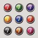 Sparse,Technology,Push Button,Red,Blue,Computer Graphic,Yellow,Keypad,Interface Icons,Symbol,Financial Figures,Number,Computer Icon,Digitally Generated Image,Button,Design,Sign,Ilustration,Green Color,Multi Colored,Icon Design,Purple,Data,Vector,Shape,App Icon,web icon,Isolated,Circa 7th Century,Counting,Internet,Shiny,Phone Icon,Phone Button,Number 7