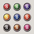Sparse,Technology,Push Button,Red,Blue,Computer Graphic,Yellow,Keypad,Interface Icons,Symbol,Financial Figures,Number,Computer Icon,Digitally Generated Image,Button,Design,Sign,Ilustration,Green Color,Multi Colored,Icon Design,Purple,Data,Vector,Shape,App Icon,web icon,Isolated,Circa 8th Century,Counting,Internet,Shiny,Phone Icon,Phone Button,Number 8