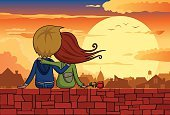 Animated Cartoon,Cartoon,Sunset,Teenager,Sitting,Flower,House,Cloudscape,Wall,Illustration Technique,Cloud - Sky,Valentine's Day - Holiday,Affectionate,Twilight,Togetherness,Summer,Two People,Happiness,Silhouette,Sky,Macro,Love,Dusk,Sun,Romance,Friendship,Bird,Hugging Self,Love At First Sight,Loving,Back Lit,Outdoors,Vector,Embracing,Relaxation,Drawing - Art Product,Dating