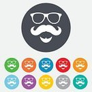 Creativity,Vector,Shape,Token,Label,Computer Graphic,Ilustration,Backgrounds,template,Multi Colored,Application Software,Symbol,Sign,Mustache,Yellow,Blue,Red,Father,People,Beard,Fashion,Eyewear,Men,Circle