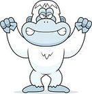 Anger,Snow,Ilustration,Computer Graphic,Primate,Vector,Frowning,Cartoon,Yeti,Animal,Ape,Clip Art