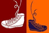 Shoelace,Dress Shoe,Teenager,Sport,Vector,Personal Accessory,Comfortable,Drawing - Art Product,Youth Culture,Ilustration,Fashion,Objects/Equipment,Fashion,Beauty And Health,Style,Illustrations And Vector Art