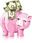 Piggy Bank,Dollar,Currency,US Paper Currency,Making A Save,Isolated,Coin Bank,Investment,Business,Savings,401k,Paper Currency,Symbol,Vector,Winking,Wealth,Finance,Banking,Home Finances,US Currency,White Background,Illustration Technique,Ilustration,No People,Digitally Generated Image,Creativity,Pig,Bringing Home The Bacon,Reflection,Design,Security,graphic element,Full,Close-up,Making Money,Money to Burn,Isolated On White,Saving up for a Rainy Day,Childhood,Color Image,creative element,Design Element