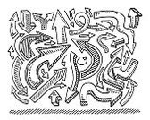 Drawing - Art Product,Arrow Symbol,Ilustration,Confusion,Curve,Bent,Choice,Sketch,Doodle,Moving Down,Group of Objects,Chaos,Transparent,No People,Vector,White,Line Art,Black And White,black-and-white,Pen And Marker,Simplicity,Set,Horizontal,Variation,Abstract,Black Color,right,Clip Art,hand drawn,Single Object,Design Element,Left Handed,Moving Up,Collection,Symbol,Direction,Shadow,Right Handed,Isolated On White