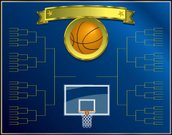 Basketball,Basketball - Sport,March,Competition,Basketball Hoop,Vector,Poster,Directly Above,Back Board,Sports And Fitness,Illustrations And Vector Art,Sports Backgrounds,Horizontal,Team Sports,Vector Backgrounds,Royal Blue,No People,Gold Colored,Empty