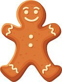 Christmas,Gingerbread Man,Smiley Face,Baked,Gingerbread Cookie,Vector,Snack,Sweet Food,Dessert,White Background,Design,Cream,Men,Glazed,Beige,Biscuit,Homemade,Ilustration,Single Object,Fancy Bread,Season,Isolated,Cartoon,Celebration,Cultures,Candy,Cake,Cookie,Brown,Symbol,White,Icing,Holiday,New Year,Pastry,Sugar,yummy,Food