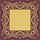 Cartouche,Art,Floral Pattern,Scroll Shape,Vector,Decoration,Square,Gold Colored,Frame,Pattern,Retro Revival,Swirl,Abstract,Classical Style,Decor,Vignette,Ornate,Elegance,Style,Design