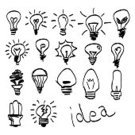 Light Bulb,Incomplete,Efficiency,Collection,Sketch,Old-fashioned,Creativity,Ink,Drawing - Activity,Ilustration,Scribble,Symbol,Glowing,Doodle