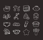 Doodle,Baby,Set,Computer Icon,Vector,Ilustration