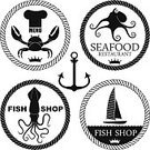 Crab,Monster,Fish,Sign,Vector,Nautical Vessel,Cartoon,Symbol,Cephalopod,Sea,Sea Life,Gourmet,Fishing Industry,Chef,Trout,Cuttlefish,Bar - Drink Establishment,Workshop,Banner,Black Color,Crown,Isolated,Octopus,Seafood,Squid,Animal,Circle,Star Shape,Food,Hat,Insignia,Anchor,Commercial Kitchen,Restaurant,Ribbon,Placard,Yacht,Tuna,Design Element,Atlantic Ocean,Meat