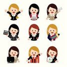 Women,Secretary,Cartoon,Businesswoman,Office Interior,Business,Computer,Teenage Girls,Working,Manager,Telephone,Characters,Sales Occupation,Real People,Office Worker,Using Computer,Icon Set,Mobile Phone,Occupation,Education,Talking,Female,Laptop,Internet,Vector,Busy,Paperwork,Sale,Presentation,Learning,Ilustration,Calculator,White Collar Worker,Clock,Promotion,Envelope,Success,Winning,Employment Issues,Job - Religious Figure,Speech,Graph,Discussion,Timer,Surfing the Net,Computer Monitor,Document,City Life,Young Adult,Suit,Shirt,Ladder of Success,Paper,File Clerk,Letter