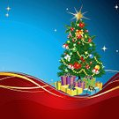 Holiday,Celebration,Event,Color Gradient,Decoration,Christmas Ornament,Christmas Tree,Backgrounds,Blue,Red,Christmas