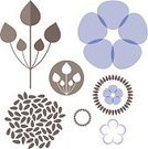 Flax Seed,Flax,Flower,Set,Exoticism,Abstract,Seed,Isolated,Sign,Ripe,Blue,Icon Set,Vector,Bouquet,Plant,Crop