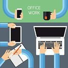 Human Hand,Busy,Office Interior,Multi-Tasking,Typing,Computer Network,Tea - Hot Drink,Holding,Showing,Mobile Phone,Pencil,Gray,Ideas,business team,Note Pad,Job - Religious Figure,Planning,Presentation,Professional Occupation,Occupation,Equipment,Authority,Suit,Working,Internet,Vector,Cooperation,Calling,Digital Tablet,Smart Phone,Partnership,Cup,Mobility,Communication,Teaching,Open,Touching,Silver Colored,Concepts,Teamwork,Green Color,Desk,Businessman,Computer Monitor,Diary,Notebook,Expertise,Togetherness,Text,Writing,Directly Above,Routine,Computer Keyboard,Laptop,Business