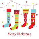 Christmas Stocking,Child,Christmas,Christmas Tree,Celebration,Decoration,Hanging,Illustrations And Vector Art,Lifestyles,Green Color,Season,Gift,Sock,Holidays And Celebrations,Clothesline,Tree,Red,Offspring