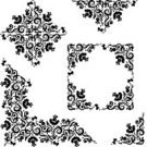Corner,Black Color,Rose - Flower,Frame,White,Pattern,Floral Pattern,Scroll Shape,Vine,Flower,Ornate,Swirl,Backgrounds,Repetition,flourishes,Single Flower,Old-fashioned,Vector,Design Element,Ilustration,Computer Graphic,Midsection,Abstract,Bud,accent,Nature Abstract,Arts Abstract,Nature,Illustrations And Vector Art,Arts And Entertainment