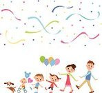 Multi Colored,Balloon,Walking,Celebration,Travel Destinations,Action,Event,Motion,Holding,Paper,Aspirations,Meeting,Full Length,Satisfaction,Father,Mother,Offspring,Body,Smiling,Arranging,Snowing,Friendship,Journey,Dog,Visit,Baby,Ilustration,New Life,School Carnival,Enjoyment
