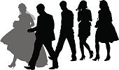 Team,People,Friendship,Crowd,Heterosexual Couple,Wedding,Silhouette,Child,Adult,Young Adult,Illustration,Group Of People,Males,Men,Boys,Females,Women,Vector,Physical Impairment,Couple - Relationship