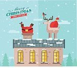Chimney,Santa Claus,White,Backgrounds,Hat,Reindeer,Characters,Design Element,Decoration,Bag,Design,Season,Eve - Biblical Character,Snow,Christmas,Vector,Multi Colored,Cute,Holiday,Tree,Snowflake,Smiling,Deer,Year,Roof,Stuck,Modern,Gift,Winter,Ilustration,Set,Retro Revival,Drawing - Art Product,Happiness,Cartoon,Humor,Fun,Celebration,Red,Collection,Greeting Card,Clause