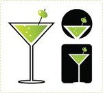 Martini,Martini Glass,Cocktail,Glass,Alcohol,Vector,Drink,Olive,Green Color,Drinking,Icon Set,Pub,Circle,Apple Martini,Black Color,Design Element,Bubble,Celebration,Vector Icons,Illustrations And Vector Art,Rectangle,Refreshment