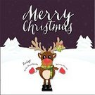 Reindeer,Ilustration,Computer Graphic,Christmas,Greeting Card,Cute,Humor,Snowflake,Characters,Love,Celebration,Rudolph The Red Nose Reindeer,Snow,Text,Animal Nose,Snow Background,Animal,Purple Background,Cheerful,Winter,Backgrounds,Hat,White,Red,Fun,Isolated,Design,Smiling,Antler,Season,Vector,Christmas Card,Happiness,Rudolph The Red-nosed Reindeer,Year,Mistletoe,Deer,Vacations,Cartoon