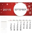 Season,Red,Organization,template,Vector,Year,Week,Wednesday,Paper,Month,Backgrounds,Personal Organizer,2015,Calendar,Day,Ilustration,Eps10,September