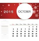 Season,Red,Organization,template,Vector,Year,Week,Wednesday,Paper,Month,Backgrounds,Personal Organizer,2015,Calendar,Day,Ilustration,Eps10,October