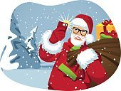 Carefree,Making a Face,Santa Claus,Men,Town,Tree,Blizzard,Looking,Snow,Smart Phone,Scarf,Holiday,Red,Hat,Greeting Card,Cartoon,Christmas,Costume,Blue,Beard,Selfie,Non-Urban Scene,Happiness,Bag,White,Evergreen Tree,Technology,Telephone,Cultures,Male,Saint,Snowing,Traditional Clothing,Smiling,Season,Vector,Ilustration,Fun,Fir Tree,Father,Overweight,Humor,Gift,Winter,Holding,Cheerful,Design