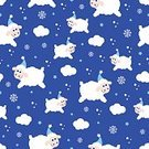 Ilustration,Cute,Snow,Nature,Pattern,Night,Vector,Backgrounds,Year,Blue,Fun,Sheep