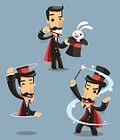 Magic Show,Cards,Magician,Art,Entertainment,Wizard,render,Men,Isolated-Background Objects,Magic Top Hat,Red,Magicians Hat,Performance,Hat,Black Color,conjuring,Performing Arts Event,Black Top Hat,Elegance,Mustache,Appearance,Absence,Magic Wand,Magic,Magic Trick,Rabbit - Animal,Top Hat