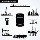 Oil Rig,Natural Gas,Tanker,Refinery,Fuel Tanker,Oil,Industry,Gasoline,Car,Black Color,Tower,Vector,Transportation,Tube,Barrel,Set,Silhouette,Diesel,Outline,Collection,Sea,Technology,Drill,Storage Tank,Construction Platform,Oil Pump,Fuel and Power Generation,Construction Industry,Fuel Pump