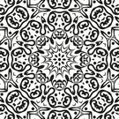 White,Abstract,Star Shape,Black Color,Black And White,Computer Graphic,Floral Pattern,Circle,Isolated,Style,Application Form,Design Element,Design,Flourish,Old-fashioned,Outline,Silhouette,Ornate,Eternity,Continuity,Symmetry,Fashion,symbolical,Cut Out,Backgrounds,Decoration,Repetition,Pattern,Wallpaper Pattern,Seamless,Vector,Creativity