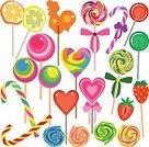 Exoticism,Symbol,Set,Design Element,Isolated,Vector,Sweet Food,Food,Ilustration,Abstract,Candy