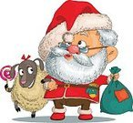One Animal,One Person,Beard,Image,Cultures,Gift,Smiling,Red,Concepts,Ideas,Bag,Chinese Culture,Delivering,Lamb,Travel Destinations,Cheerful,Single Object,Looking,Human Hand,New,Ethnicity,Emotion,Inspiration,Caucasian Ethnicity,Symbol,Hat,People,Winter,Humor,Christmas,Holiday,Santa Claus,Remote,Isolated,Vacations,Men,Season,Lamb,Celebration,mirthful,Sack,Shoulder,Animal Hand,Year's,Fur,Senior Adult,Fun,Vector