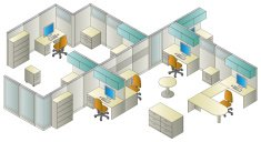 Isometric,Office Interior,Built Structure,Desk,Chair,Working,Environment,Control Panel,Occupation,Office Buildings,Vector Icons,Business Symbols/Metaphors,Architecture And Buildings,Business,Illustrations And Vector Art