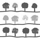 Environment,Silhouette,Summer,Pollution,Bedford Institute Of Oceanography,Nature,Growth,Outline,Doodle,Woodland,Forest,Group of Objects,Design Element,Symbol,Plant,Biology,Set,Agriculture,Recycling,Deciduous Tree,Ilustration,Botany,Vector,Season,Tree,Drawing - Activity