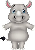 Rhinoceros,Toy,Animal,Young Animal,Cartoon,Playful,Playing,Friendship,Zoo,Vector,Safari Animals,Characters,Cute,Posing,Looking At Camera,Standing,Animals In The Wild,Humor,Mascot,Mammal,Cheerful,Happiness,Symbol,Ilustration,Fun